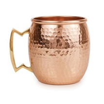 Hammered Moscow Mule Copper Mugs, Old Kentucky Stainless Steel Moscow Mu... - $46.42 CAD