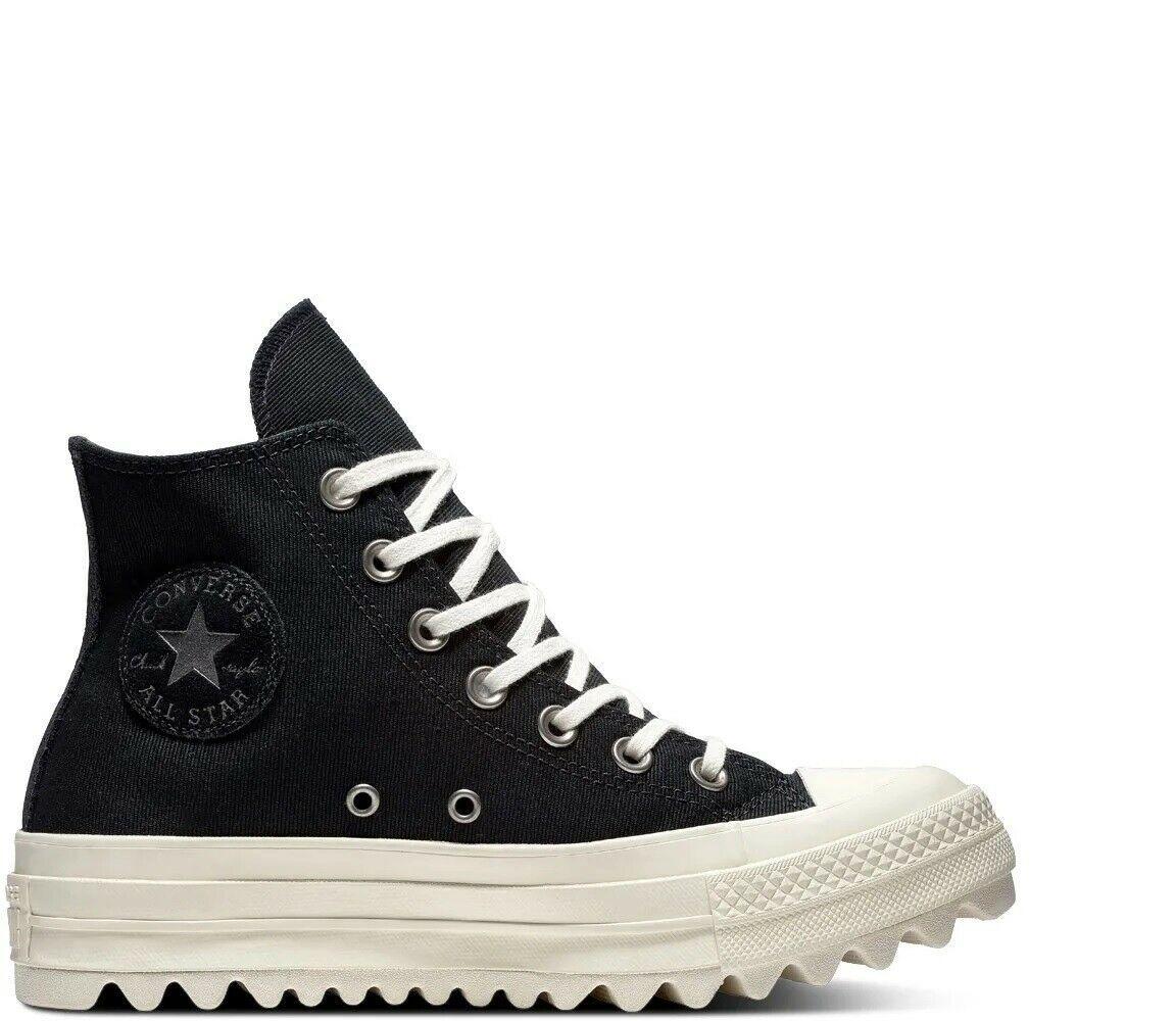 Women's Converse Chuck Taylor All Star Lift Ripple Hi, 561671C Multi Sizes Black image 5