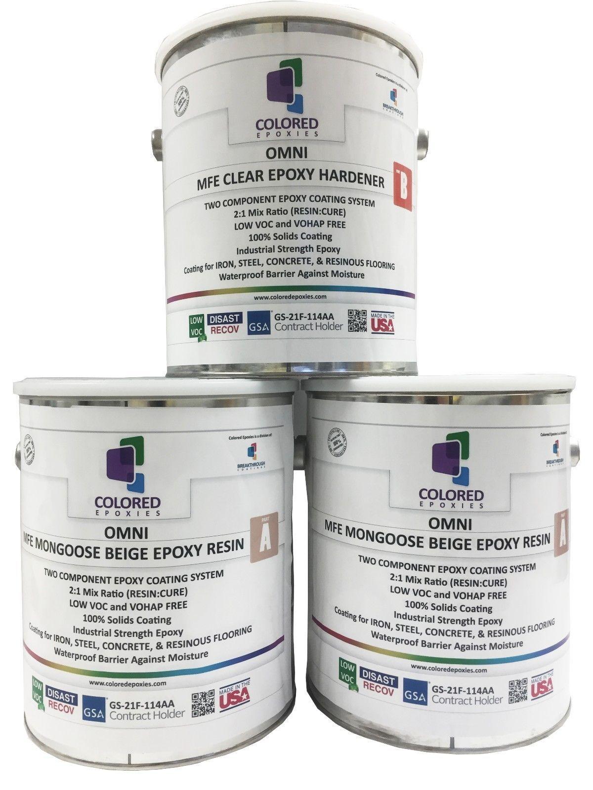 Light beige epoxy resin 100 solids for garage floor for 100 solid epoxy garage floor