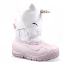 Cat & Jack Huxley Unicornio Niña Thermolite Rosa & Blanco Botas de Nieve Nuevo