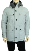 NEW MENS NAUTICA WATER RESISTANT RADIAL GREY HOODED DOWN PARKA JACKET S ... - $119.99