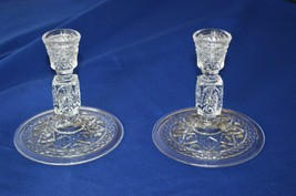 2 Imperial Glass of Ohio Cape Cod Candle Holders 160/80 - $17.82
