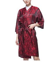 Salon Client Gown Upscale Robes Beauty Salon Smock for Clients, Red
