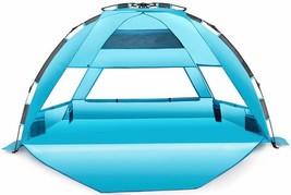 Extra Large Pop Up Beach Tent UPF 50+ Premium Beach Tent Heavy Duty Fold... - $96.96 CAD