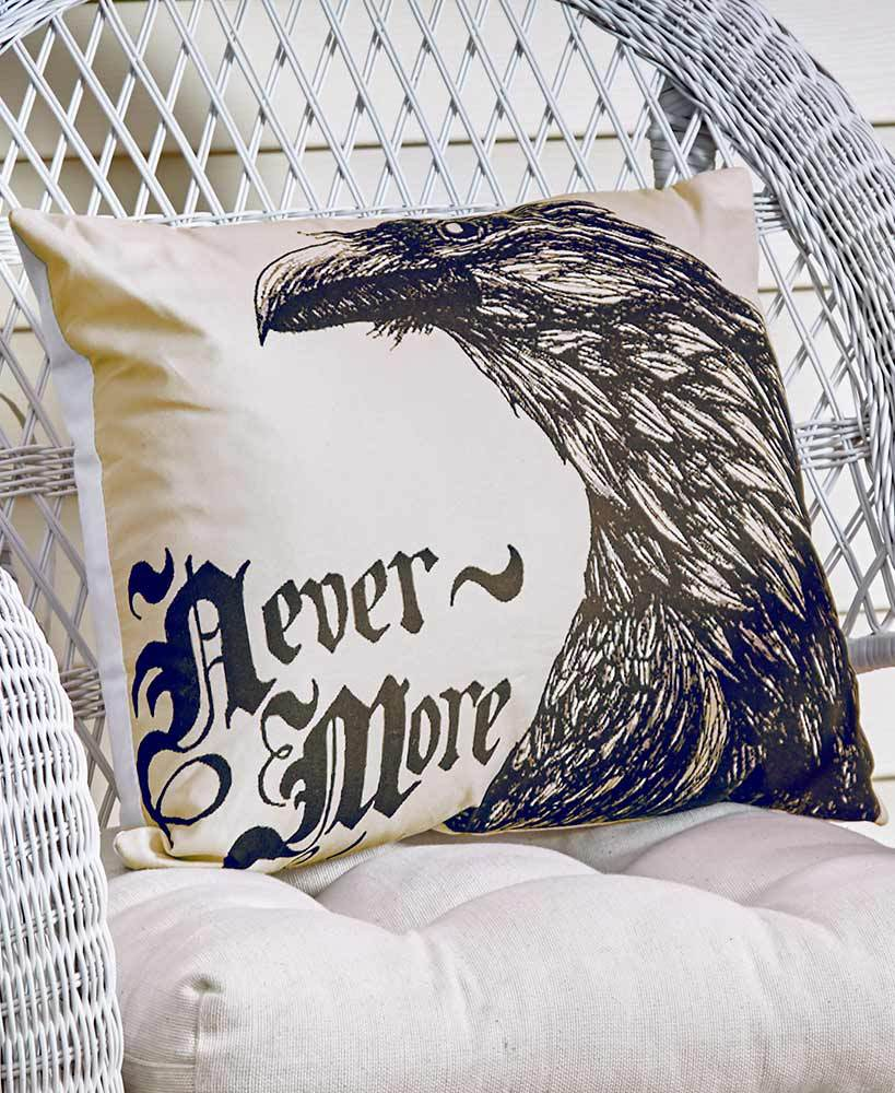 Nevermore Halloween Accent Pillow