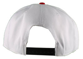 Dissizit! Side Bear White Red Brim Snapback Cap Hat California Star Flag image 4