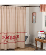 Sawyer Mill Red Farmhouse Living Bath Shower Curtain 72 x72  - $48.95