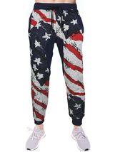 Lavish Society Men's Athletic US Flag Pullover Hoodie Jacket Pants Tracksuit Set image 4