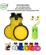 Comolife Dog Water Bottle for Walking and Food Container 2 in 1 with Dog... - $14.10