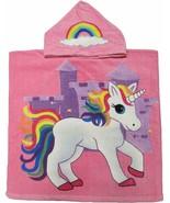 Unicorn Hooded Beach Poncho Towel Kids Bath Costume Cotton Pool Cover Up... - $17.99