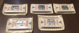 Gillette stainless steel safety razor blades . 5 ten blade packs unopened. 1960s - $70.00