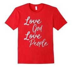 Special Shirt - Love God Love People Shirt Vintage Christian Bible T-Shi... - $19.95+
