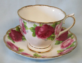 Royal Albert Cup and Saucer Old English Rose - $25.63