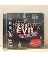 RESIDENT EVIL 3 Nemesis With Bonus Dino Crisis Demo Disc Playstation Rar... - $53.20