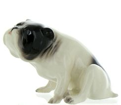 Hagen Renaker Pedigree Dog Bulldog Black and White Ceramic Figurine image 3