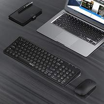 Rechargeable Wireless Keyboard and Mouse, Jelly Comb 2.4GHz Ultra Slim Quiet Key image 9