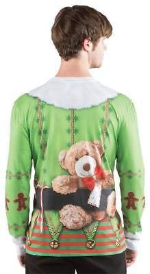 Ugly Christmas Sweater Elf Mens Adult Costume Halloween Party Thanksgiving