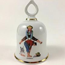 Leap Frog Norman Rockwell - September 1979 Danbury Mint Bell Vintage - $22.99