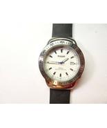 Pulsar V732 Men's  White Face Quartz Dress Watch RUNS WITH ORIGINAL RUBB... - $120.94