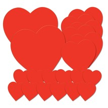 Beistle 77867 Printed Heart Cutouts, Red, Pack of 20 - ₨1,048.89 INR