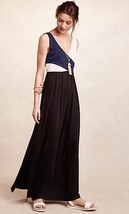 NWT ANTHROPOLOGIE ELYSIAN COLORBLOCKED MAXI DRESS by MAEVE XS - $75.99