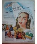 Vintage Camay Soap Bride Print Magazine Advertisement 1945 - $9.99