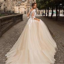 Women's New Sexy Illusive Lace Sweetheart Neckline Tulle A-Line Wedding Dress image 2