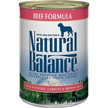 Natural Balance Ultra Premium Canned Dog Food, Beef Formula, 13-Ounce Pack Of 12
