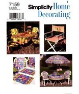 Simplicity 7159 Home Decorating Sewing Pattern Deck & Patio Accessories - $10.78