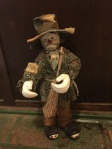 Emmett Kelly Porcelain Doll - $12.86