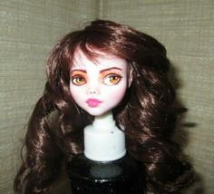 Monster High Doll Repaint Custom Art Draculaura Head Wig OOAK Biel #4 - $35.64