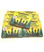 Lot of 7 Vintage Crayola 100 Light Set Indoor/Outdoor Forest / Screamin'... - $79.19
