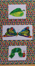 "23"" X 45"" Panel The Very Hungry Caterpillar Eric Carle Cotton Fabric D67... - $7.99"