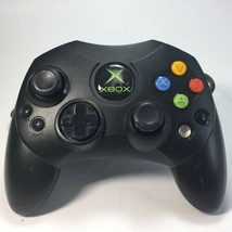 Genuine Official Microsoft Xbox Black S-Type Controller X08-69873 Tested  - $9.89