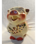 Vintage Shawnee Smiley Pig Large Pitcher Gold Decorated - With Chip on B... - $79.95