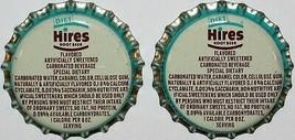 Soda pop bottle caps DIET HIRES ROOT BEER Lot of 2 cork unused new old s... - $5.99