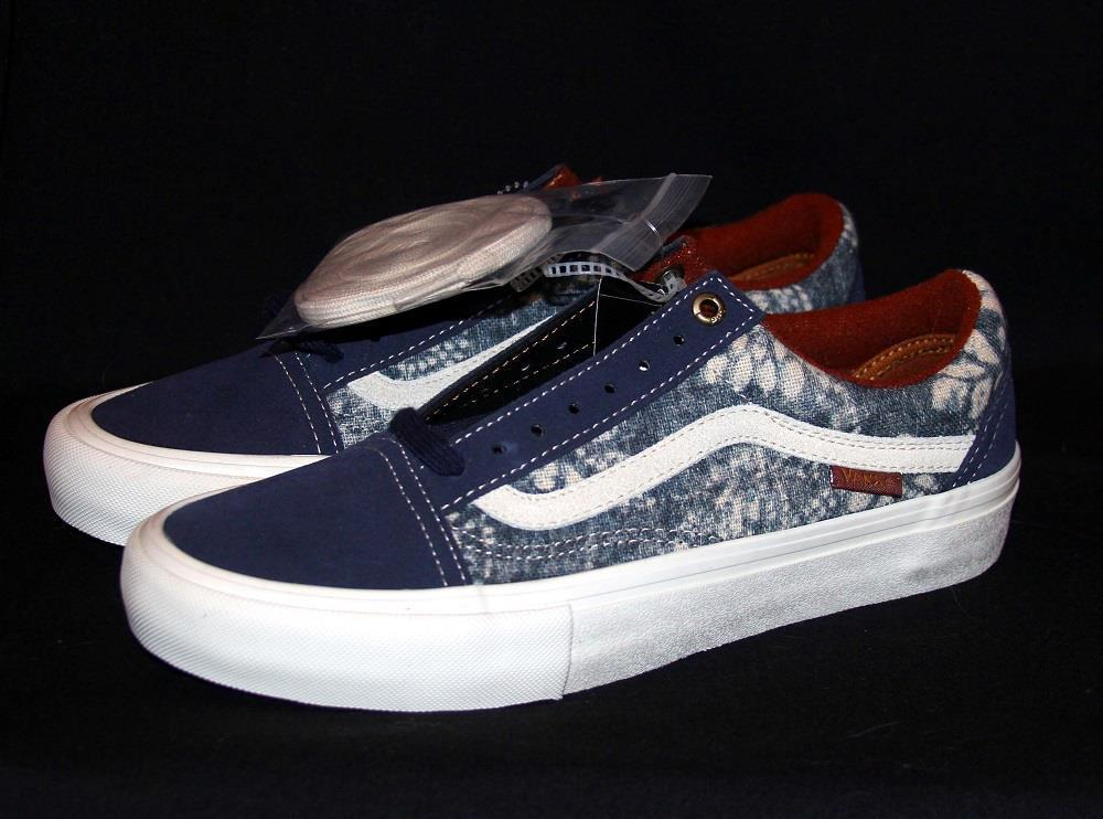 bb1489ed313 VANS Pro UltraCush HD Shibori Indigo Batiks Suede Canvas Shoes 2 Laces Mns  7 NEW