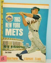 1965 New York Mets Program & Scorecard - Yogi Berra Photo Scored June 10 #B - $9.89