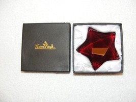 "ROSENTHAL 3.5"" RUBY RED GLASS SIGNED STAR PAPER WEIGHT/ HOME DECOR EUC  - $34.99"