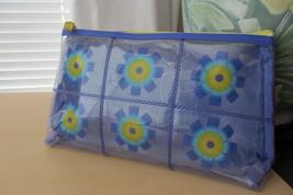 Clinique Transparent Violet Flower Cosmetic Bag - $10.88