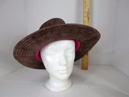 Liz Claiborne Ladies Suede Leather Safari-Style Hat-Brown-Very Rare! - $72.77 CAD