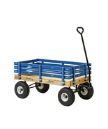 HEAVY DUTY BLUE WAGON 40x22 Bed Solid Steel Quality Cart Made in the USA - $313.57