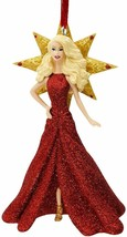 2017 Holiday Blonde Barbie Christmas Ornament by Hallmark  - $15.79