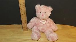 Beanbag Plush #1 Grandma rose pink swirled fur Plushland - $9.89