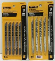 """(New) DEWALT DW3760-5 4"""" 10TPI Clean Cut Jig Saw Blade 5 pc each  Pack of 2 - $29.69"""