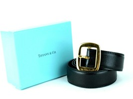 Authentic TIFFANY & C. By Palsma Picasso Black Leather with Gold Tone Sm... - $167.31