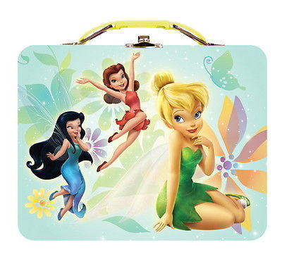 Walt Disney's Tinkerbell Large Carry All Tin Tote Lunchbox Style A NEW UNUSED