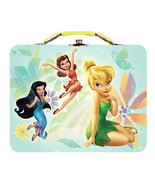 Walt Disney's Tinkerbell Large Carry All Tin Tote Lunchbox Style A NEW U... - $14.46