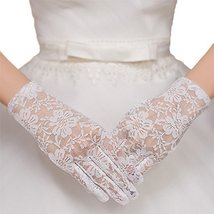 The Bride Marriage Dress Wedding White Lace Short Gloves Wedding Gloves image 2