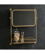 Marilyn Vintage Wall Mirror with Shelf in Gold Finish - $74.99